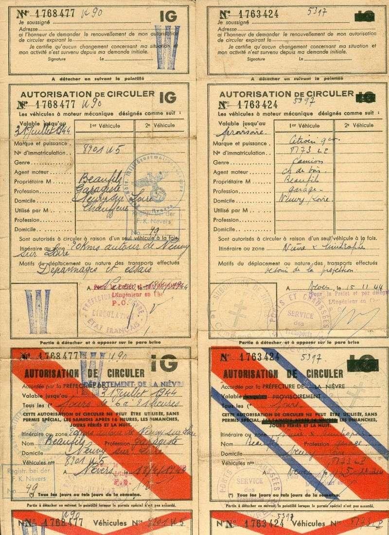 autorisation de circuler automobile deuxième guerre mondiale Autori10