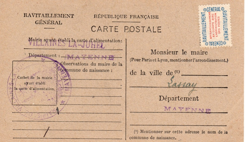 carte ravitaillement general 1946 de la MAYENE Carte_15
