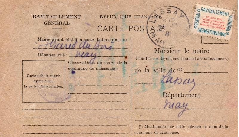 carte ravitaillement general 1946 de la MAYENE Carte_22