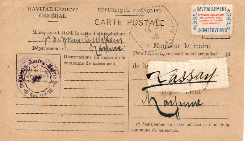 carte ravitaillement general 1946 de la MAYENE Carte_25