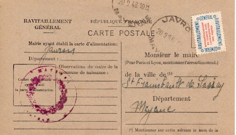 carte ravitaillement general 1946 de la MAYENE Carte_26