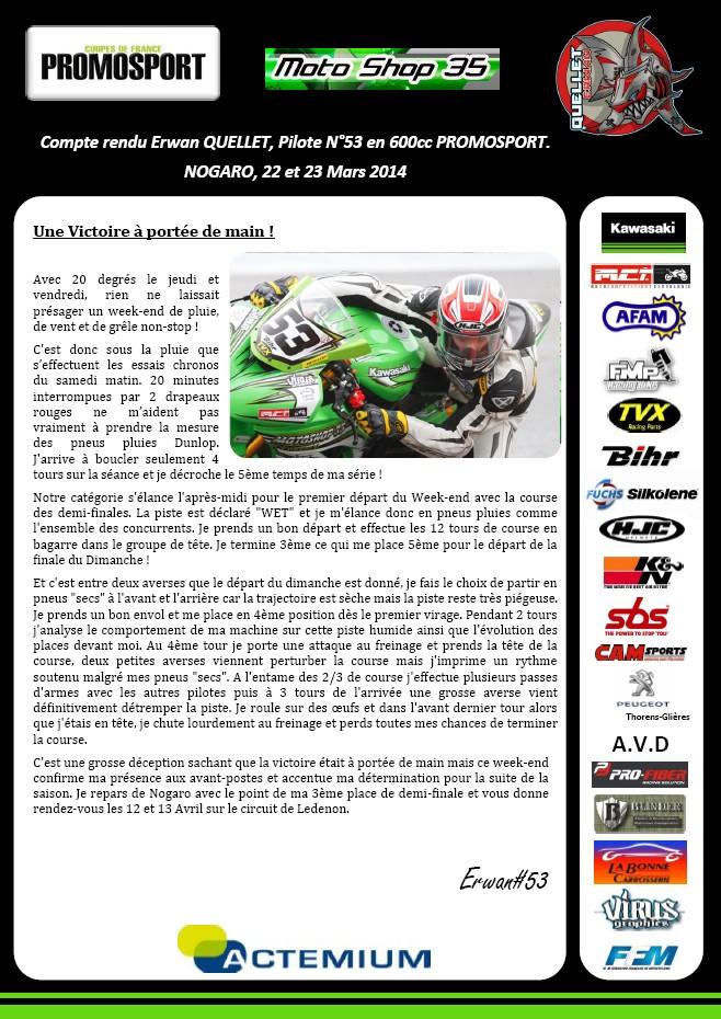 [Pit Laners en course!] Erwan QUELLET FSBK Stock1000 23-03-11