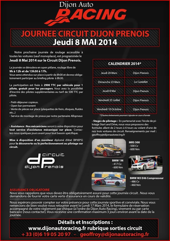 circuit Dijon-Prenois 8 Mai open pitlane 290€ 99805211
