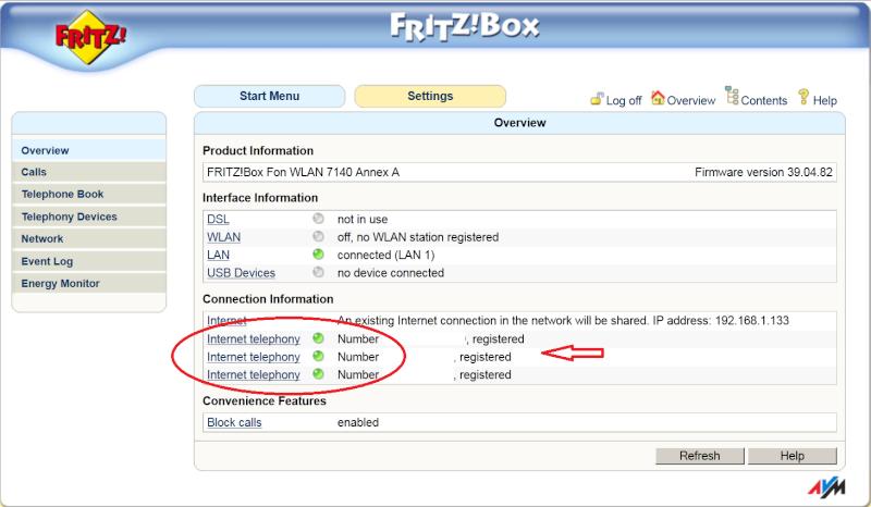 setting 7140 in wifi Fritz10