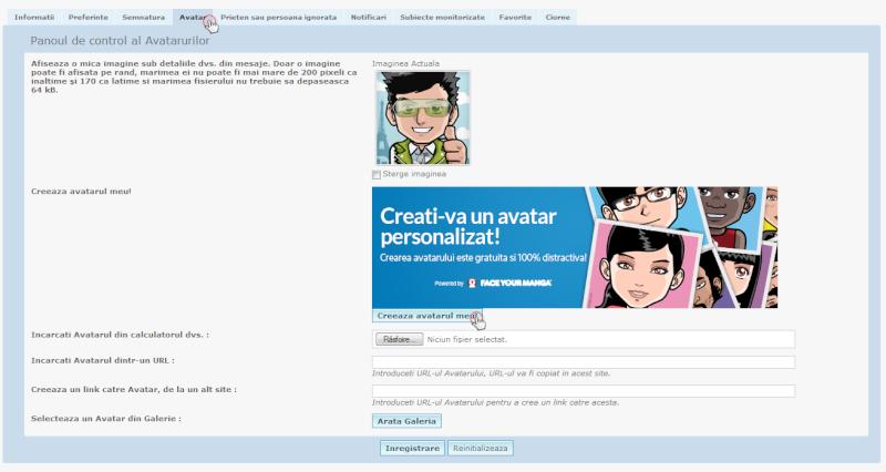 Exclusivitate Forumgratuit: Posibilitatea crearii unui avatar personalizat direct pe forum Announ10