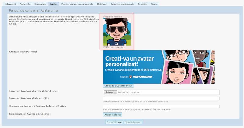 Exclusivitate Forumgratuit: Posibilitatea crearii unui avatar personalizat direct pe forum Image10