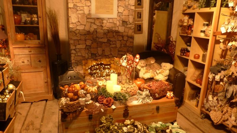 Décorations de Noël dans une jardinerie  P1190244