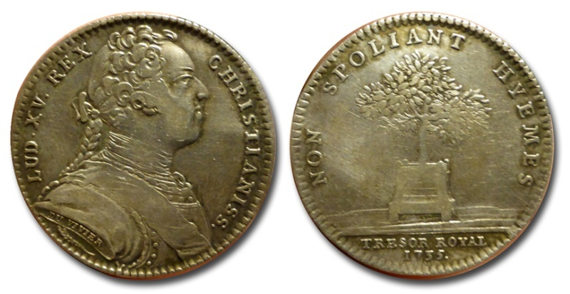 Jeton de Luis XV, 1735 Jeton10
