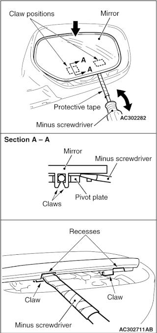 Come si tolgono gli specchietti? Ac302711
