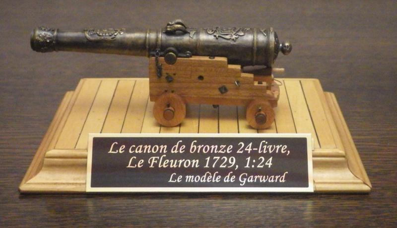 Le canon de bronze de 24 livres du Fleuron 1729, 1/24 (exposition de trois modèles) Imgp1519