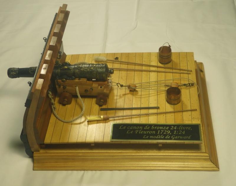 Le canon de bronze de 24 livres du Fleuron 1729, 1/24 (exposition de trois modèles) Imgp1526