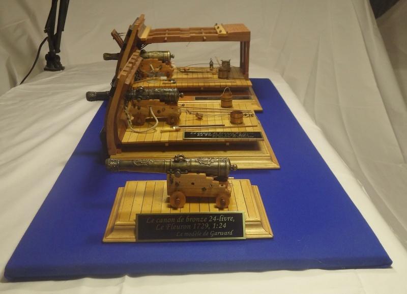 Le canon de bronze de 24 livres du Fleuron 1729, 1/24 (exposition de trois modèles) Imgp1534