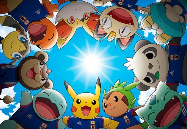 Pokémon als Maskottchen der japanischen Nationalmannschaft Pokemo11