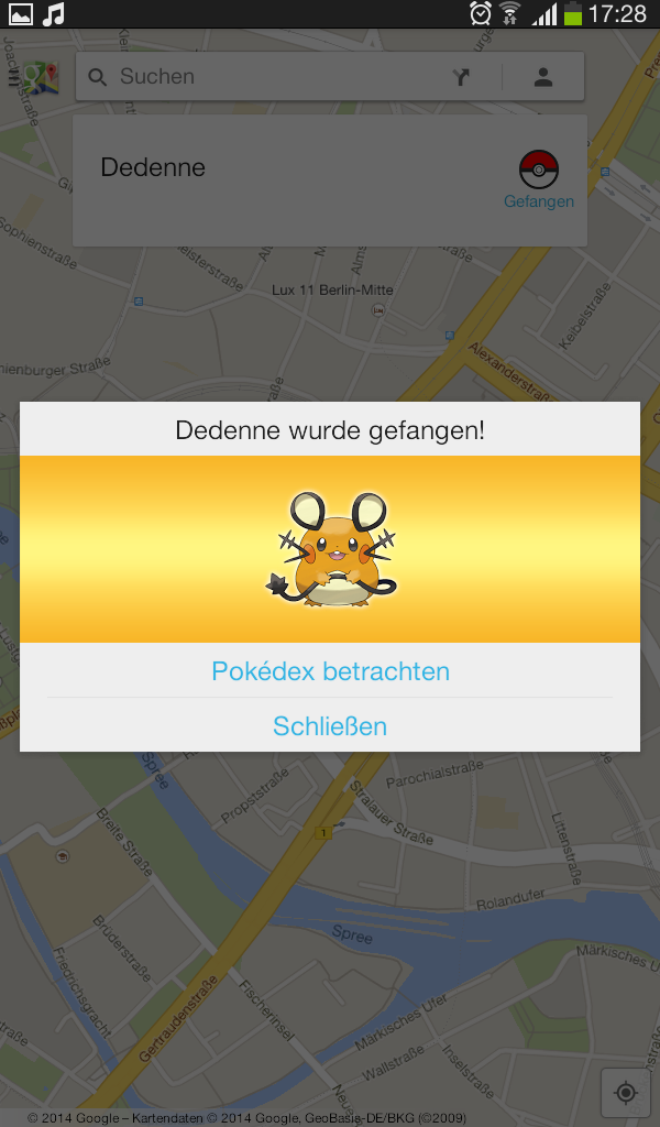 "Google-Maps Aktion mit Pokémon ""Pokémon Challenge"" Screen11"