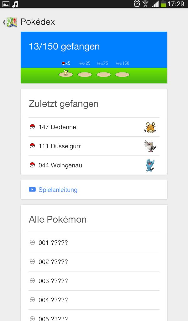 "Google-Maps Aktion mit Pokémon ""Pokémon Challenge"" Screen12"