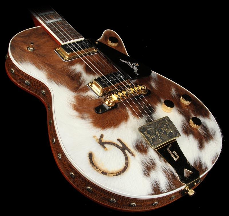 Gretsch CS 6121-55 Electric guitar brown/white Cowhide 20534_10