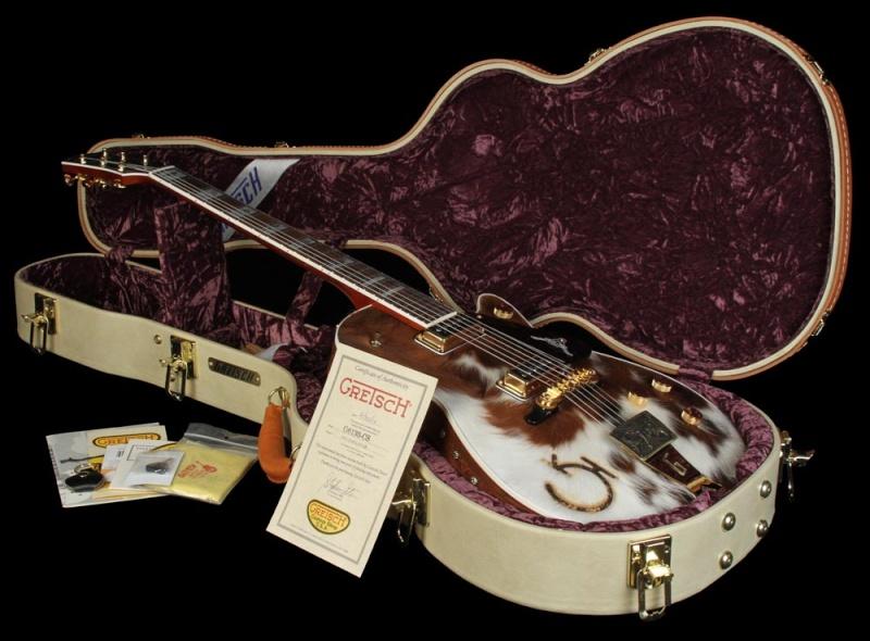 Gretsch CS 6121-55 Electric guitar brown/white Cowhide 20534_14
