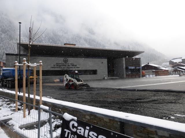Reconstruction de la gare aval du téléphérique de l'aiguille du midi P1000413