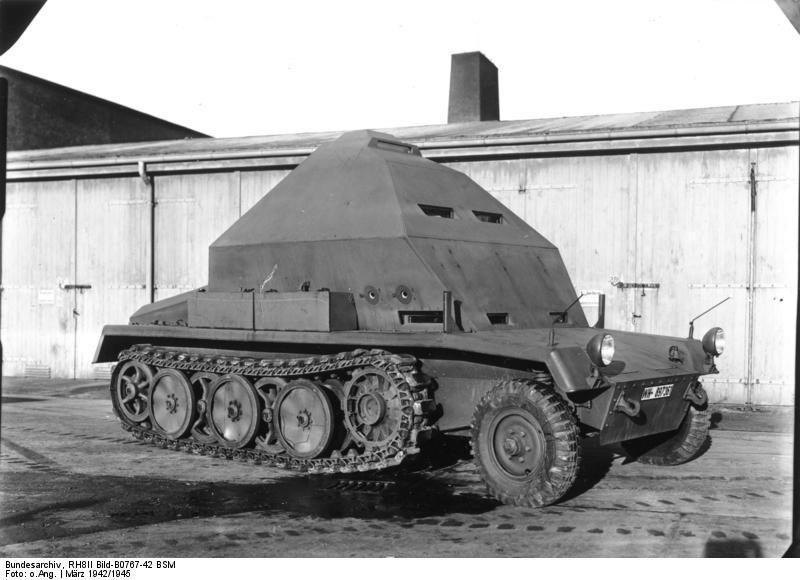 Semi chenillé: Panzer Selbstfahrlafette II 7,5 cm Kan. L/41 auf Zgkw.5t HKP902 Bundes13