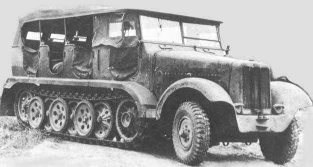 Semi chenillé: Panzer Selbstfahrlafette II 7,5 cm Kan. L/41 auf Zgkw.5t HKP902 Sdkfz610