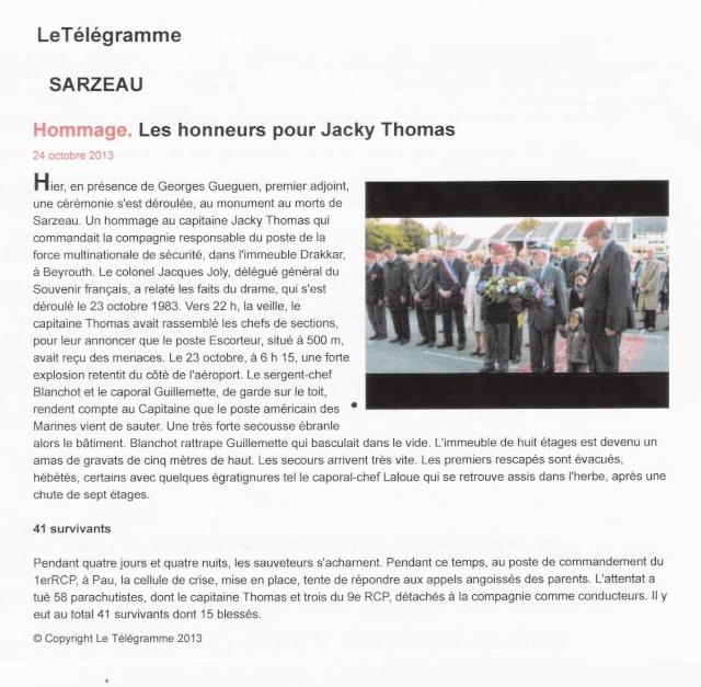 Sarzeau Morbihan - DRAKKAR - Hommage aux 58 parachutistes mort pour la France Le_tal10