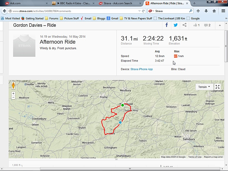 Wednesdays Ride with Colin B_15th10