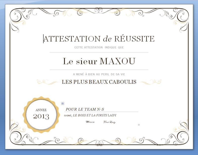 Je fini l'année en beaute Certif10