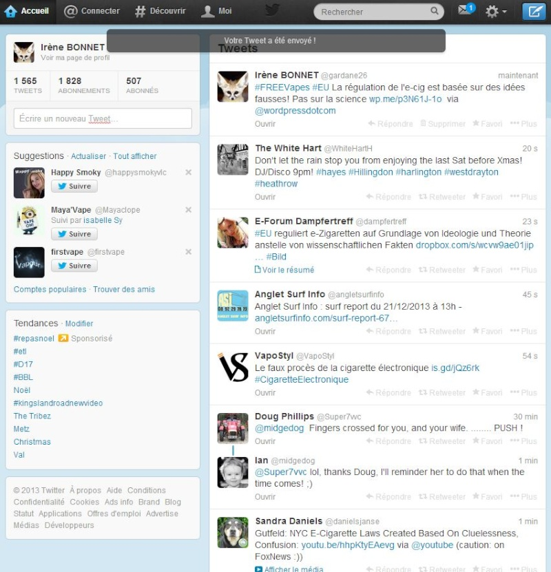 Twitter, un moyen d'expression pour la Vape? Captur48