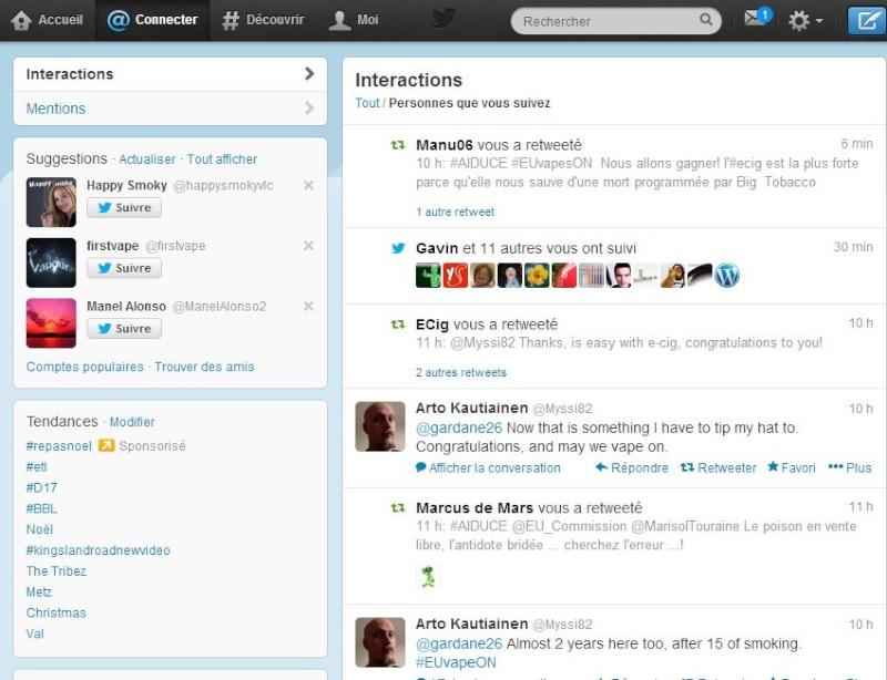 Twitter, un moyen d'expression pour la Vape? Captur49