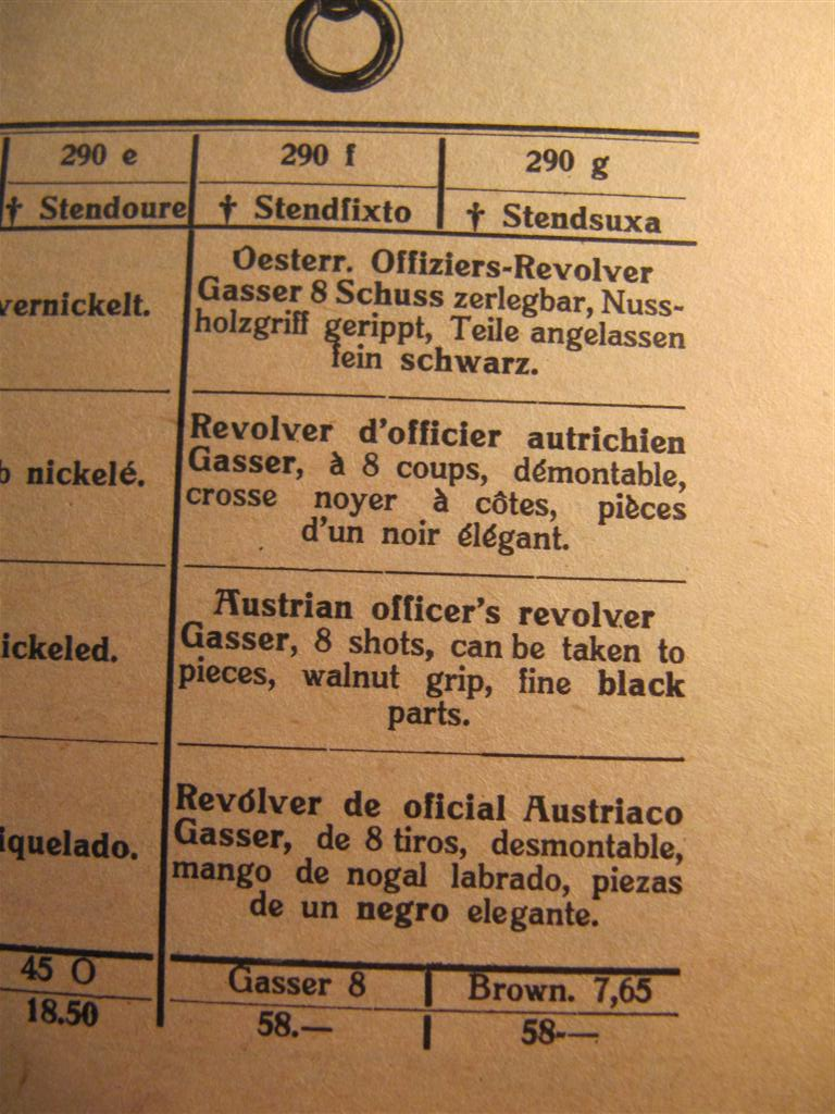 révolver Austro-hongrois WWI : Rast & Gasser Mle 1898  - Page 2 Img_6733