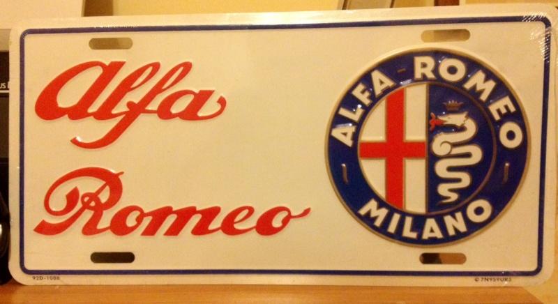 GADGET, OGGETTI E CIMELI a tema ALFA ROMEO Targa10