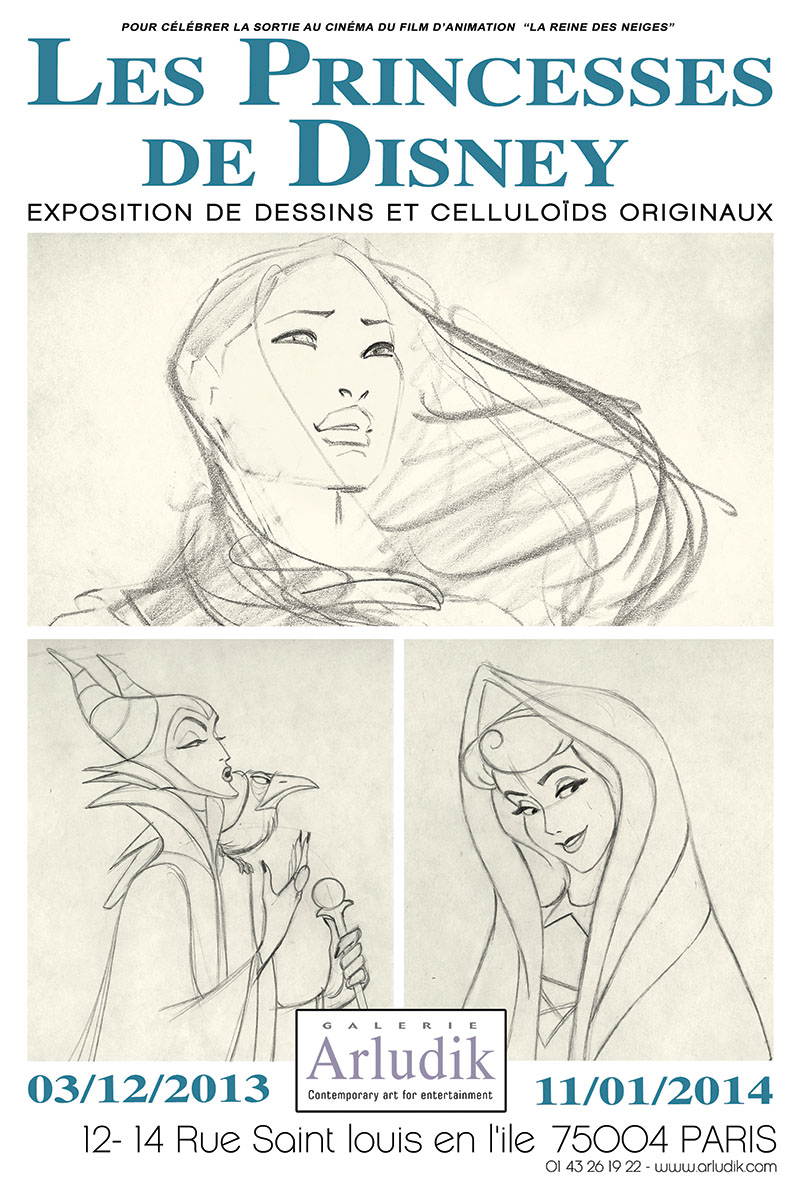 LES PRINCESSES DE DISNEY À LA GALERIE ARLUDIK Affich10