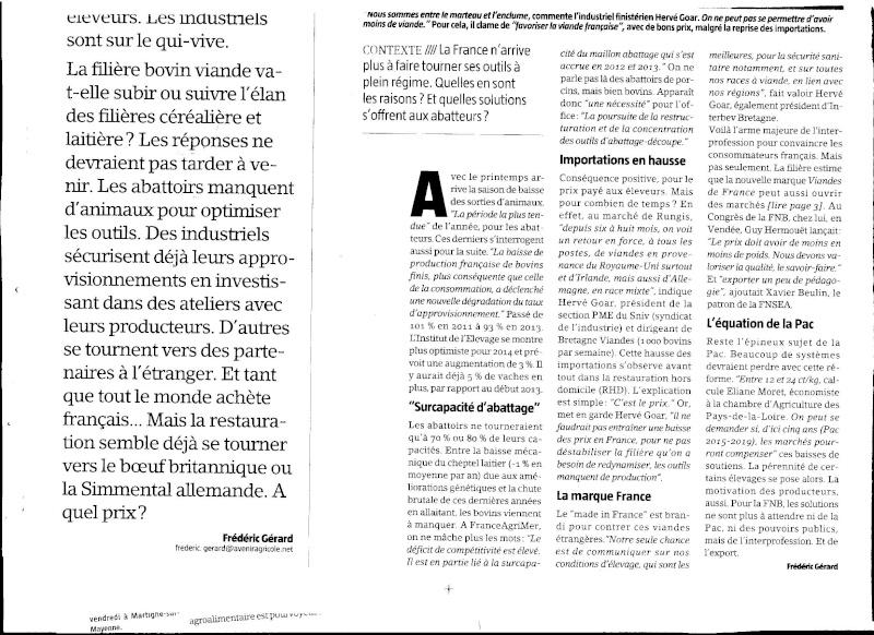 l'avenir de la viande en France  - Page 6 Viande10