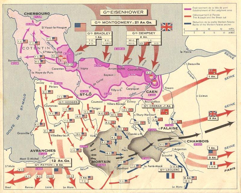 400km - La Bataille de Normandie - 13 juillet 2014 Carte_10