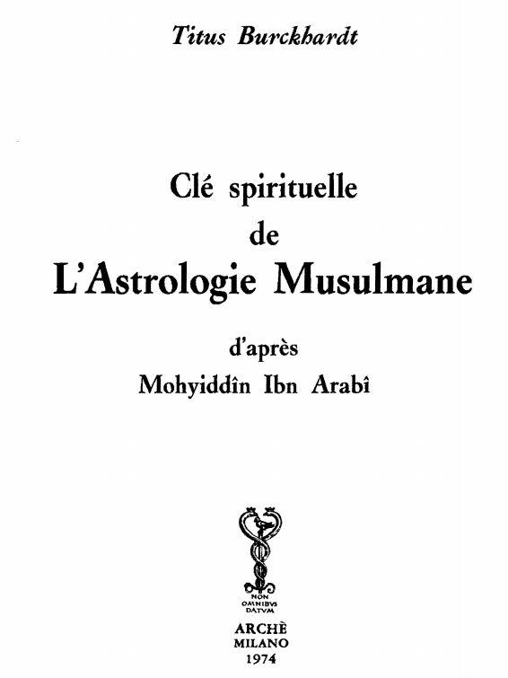 Clés spirituelle de l'astrologie musulmane d'après le Mohyiddin Ibn Arabi Cla_sp11