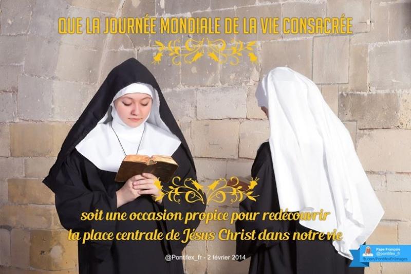 Février : tweets du pape Consac12