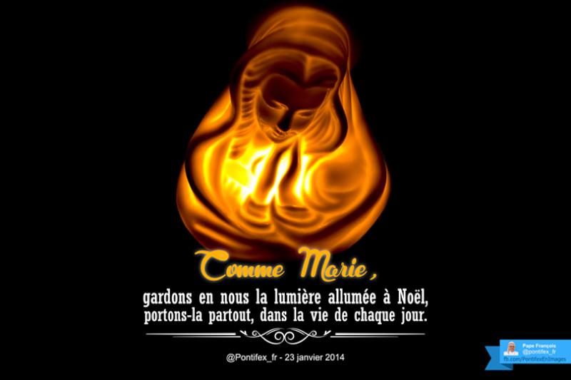 Tweets du Pape en image (Janvier) Marie10