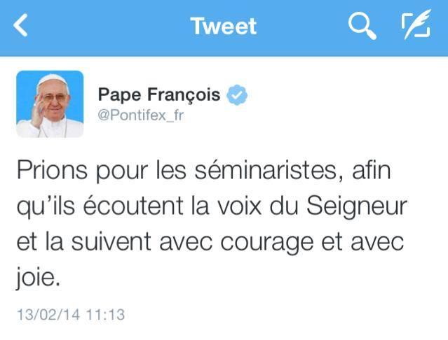 Février : tweets du pape S2mina10