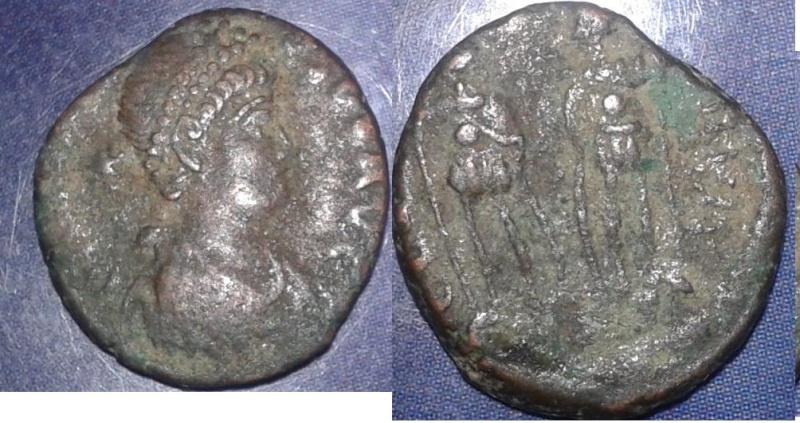 Aide pour monnaie de la fin d'empire romain + une byzantine  110