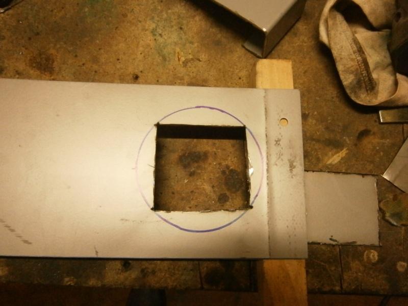 Pas à pas sur réalisation d'une guillotine pour aspiration machine à bois Pa260510