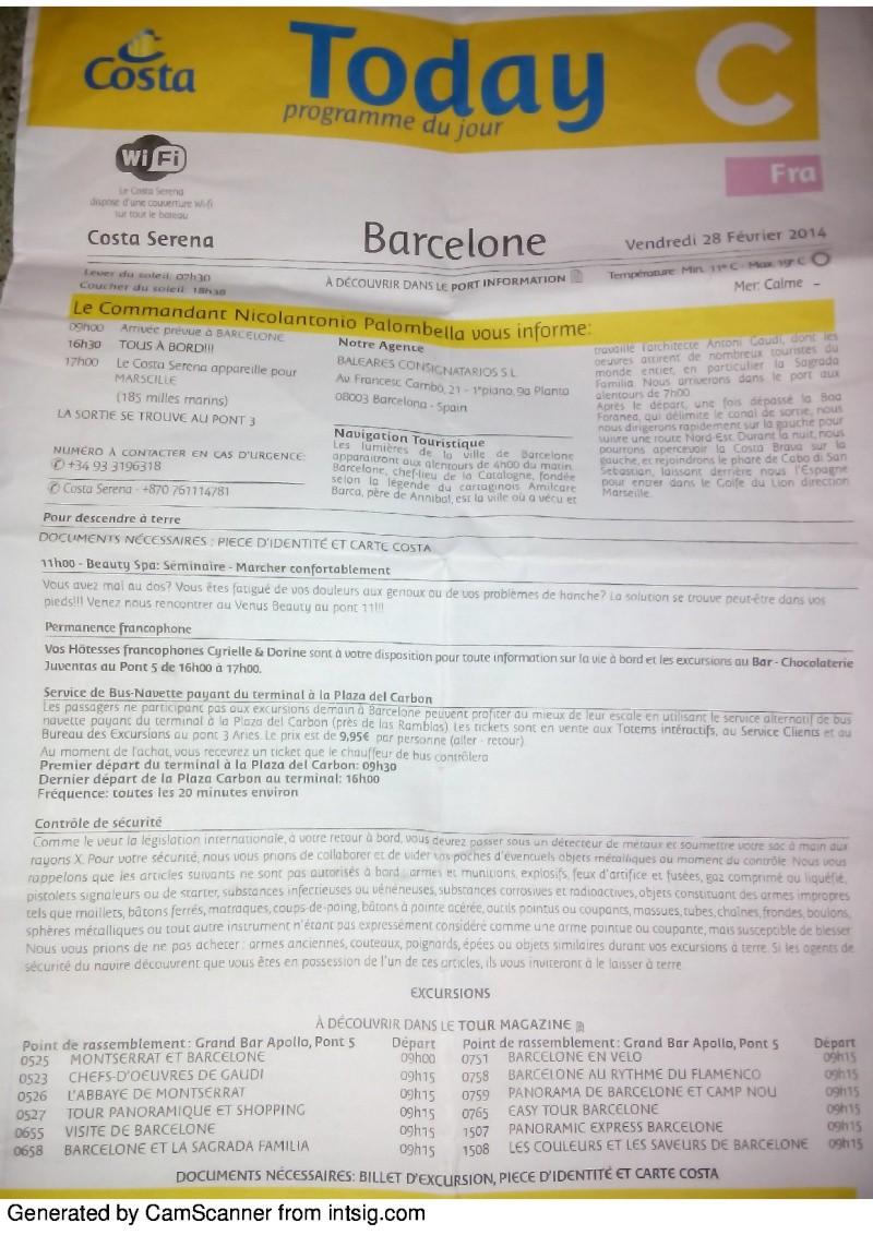 compte rendu de croisière sur le costa serena du 22/02/14 au 01/03/14 - Page 2 78924830