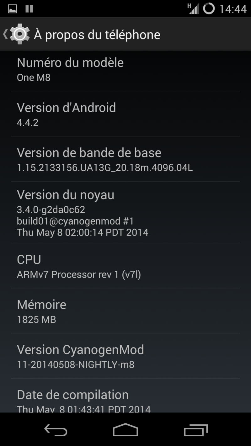 [ROM HTC ONE M8]  KITKAT 4.4.2 CyanogenMod 11.0 Officiellle Nightly Build  Cm_0410