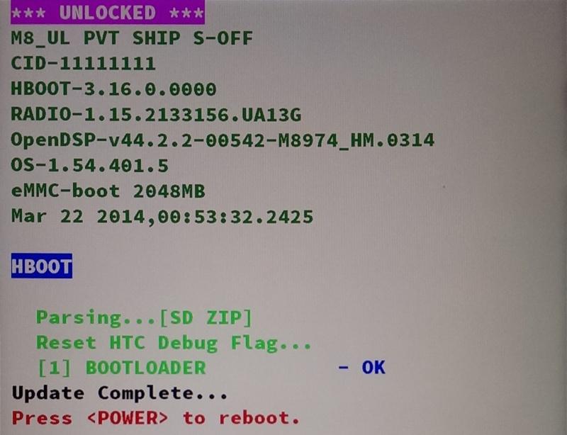[MOD] Supprimer le message en rouge sur l'écran de démarrage | S-OFF requis | Htc One (M8) Imag0016