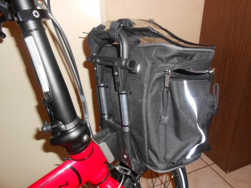 Sac avant de marque Brompton sur un autre vélo pliabe (Dahon, Birdy,...) 00511