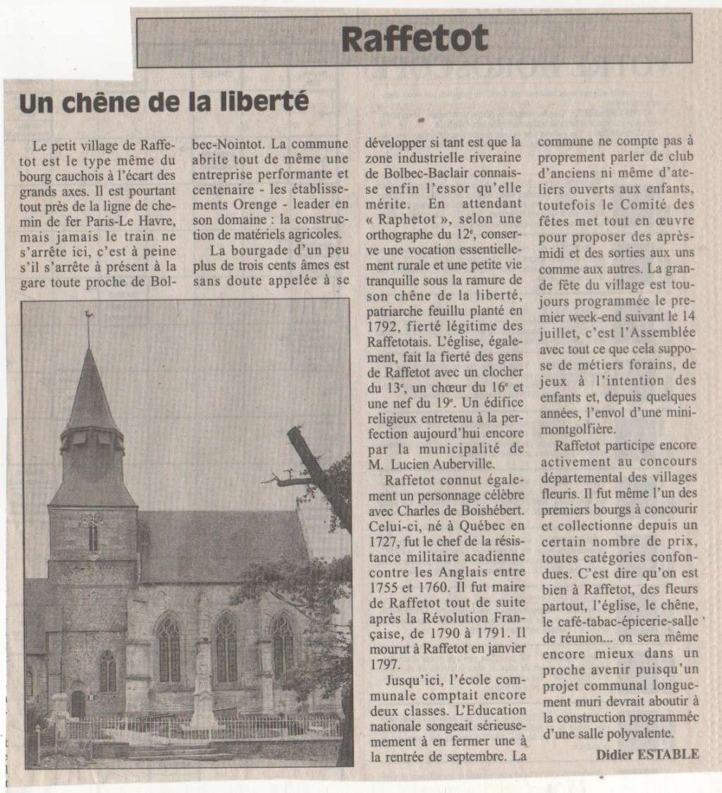 Raffetot - Une balade historique Histoi19