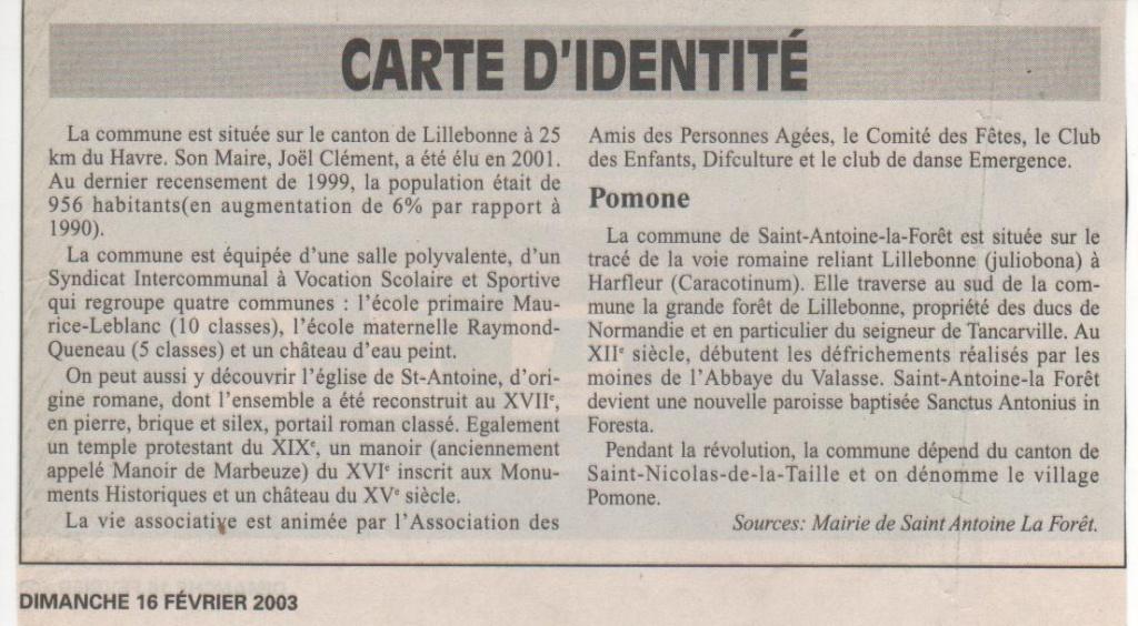 Histoire des communes - Saint-Antoine-la-Forêt Histoi25
