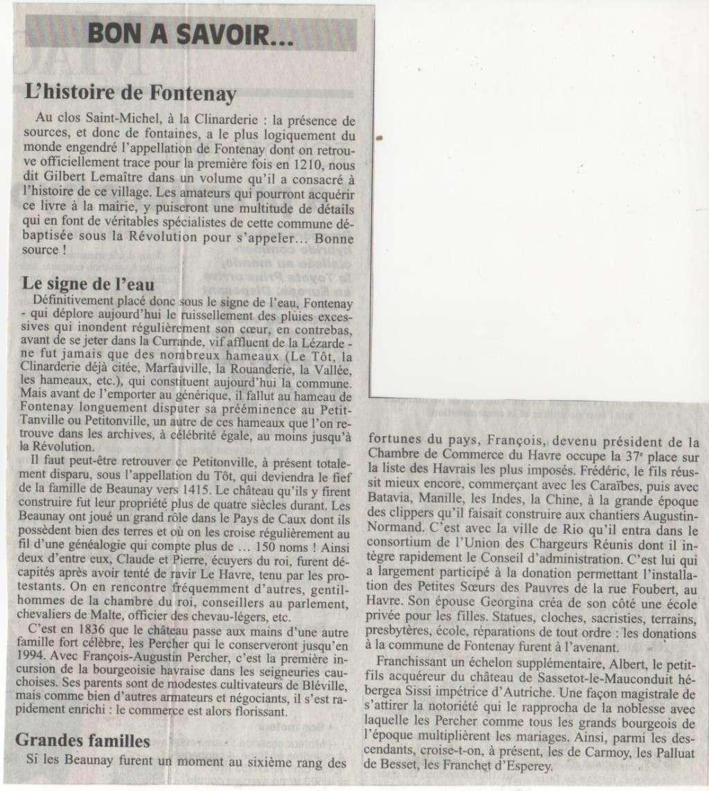 Histoire des communes - Fontenay Histoi27