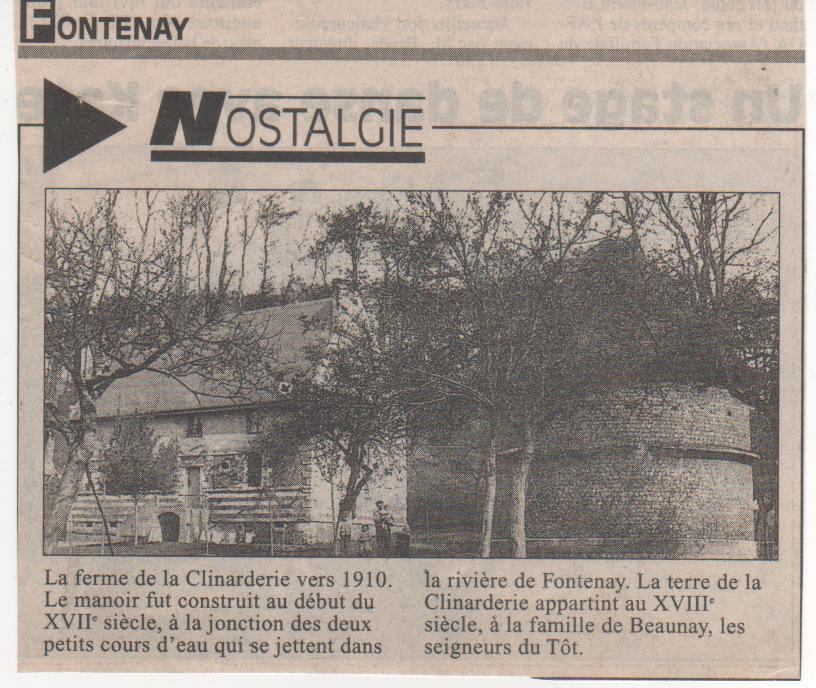 Histoire des communes - Fontenay Histoi28