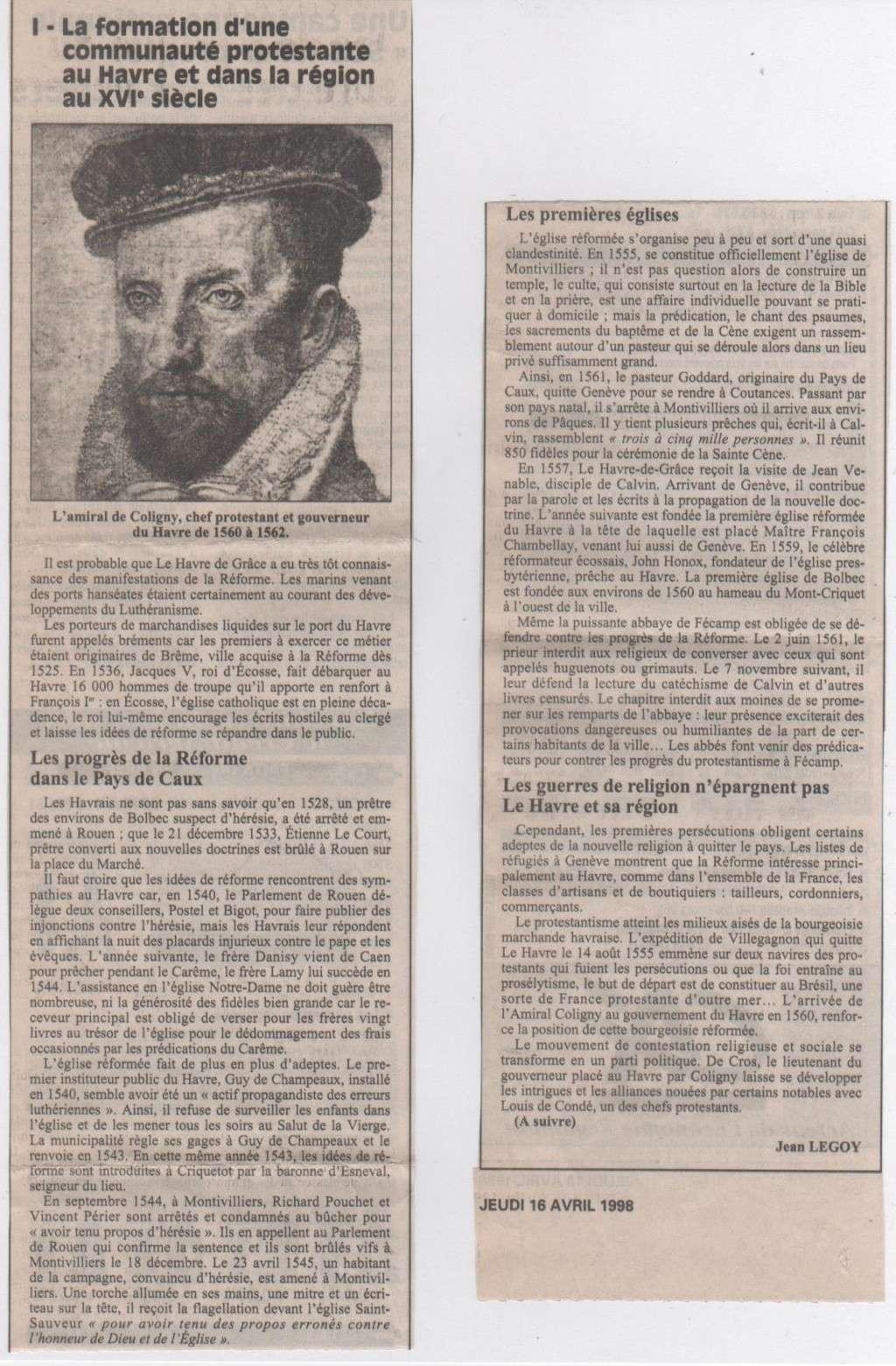 Histoire des Protestants Havrais par Jean LEGOY Protes10