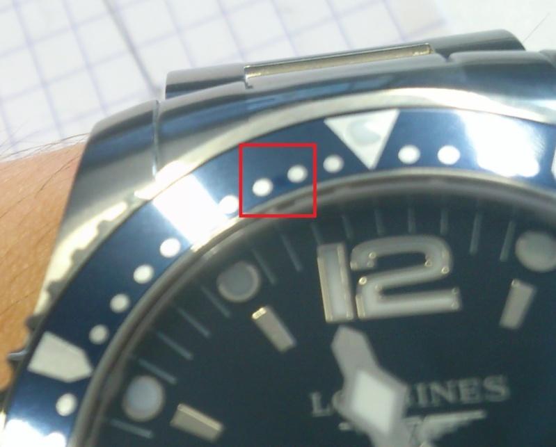 petite tâche sur ma Longines Hydroconquest : montre échangeable ? Sssss10
